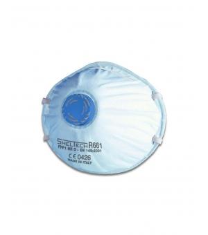 Respiratore Sheltech Per Polveri Fumi E Nebbie Ffp1 Nr D Con Valvola