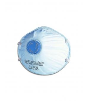 Respiratore Sheltech Per Polveri Fumi E Nebbie Ffp2 Nr D Con Valvola
