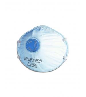 Respiratore Sheltech Per Polveri Fumi E Nebbie Ffp3 Nr D Con Valvola