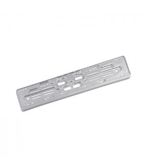 Portatarga auto personalizzato posteriore in Polipropilene silver