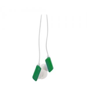 Auricolari colorati con pad rettangolari e astuccio di plastica