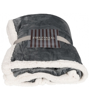 Coperta plaid in pile sherpa Lauren