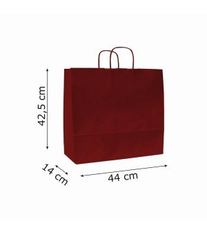 Buste di carta sailing colorata - 110 gr - 44x14x42,5 cm -  maniglia ritorta