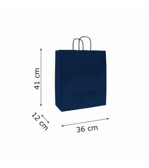 Buste di carta sealing avana colorata- 100 gr - 36x12x41 cm -  maniglia ritorta