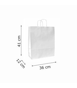 Buste di carta sailing bianca colorata - 100 gr - 36x12x41 cm -  maniglia ritorta