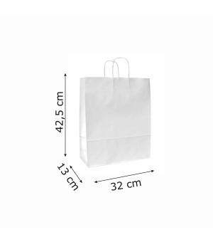 Buste di carta sailing bianca colorata - 100 gr - 32x13x42,5 cm -  maniglia ritorta