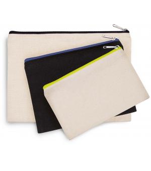 Pochette in cotone canvas Ki-Mood 20x12 cm