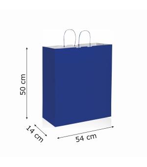 Buste di carta kraft bianca colorata - 120 gr - 54x50x14 cm - maniglia ritorta