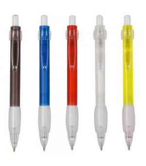 Penne a scatto in plastica colorata con impugnatura gommata