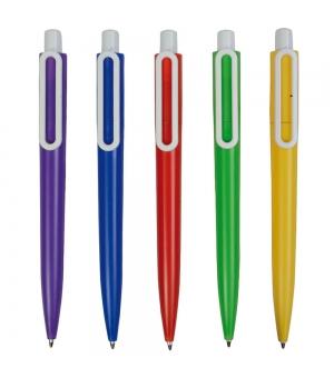 Penne a scatto in plastica con clip a forma di graffetta