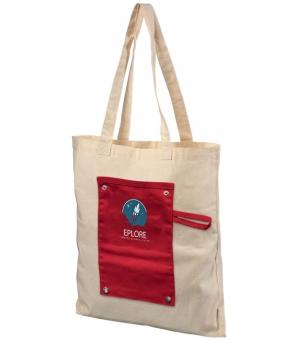 Shopper pieghevole in cotone Snap 180 gr - 37x41,5 cm