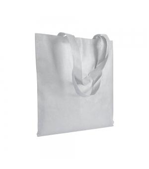 Shopper in plastica riciclata R-PET 38x42 cm manici lunghi