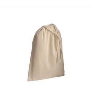 Sacchetto in cotone naturale 120 gr - 15x20 cm con chiusura a strozzo