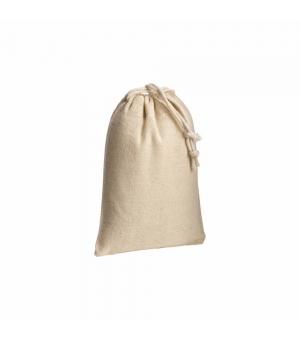 Sacchetto in cotone naturale 120 gr - 10x14 cm. con chiusura a strozzo