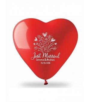 Palloncino gonfiabile cuore colorato Ø150 cm./60 pollici