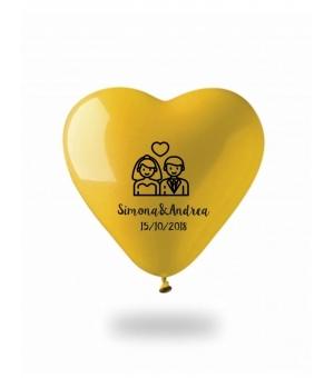 Palloncino gonfiabile cuore colorato Ø30 cm./12 pollici