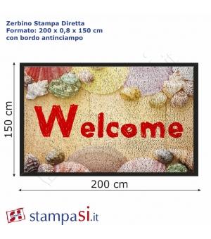 Zerbino personalizzato con stampa diretta cm 200x150
