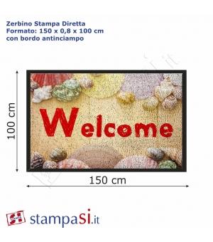 Zerbino personalizzato con stampa diretta cm 150x100