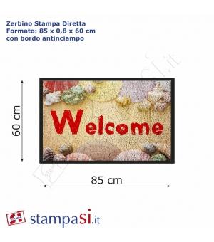 Zerbino personalizzato con stampa diretta cm 85x60