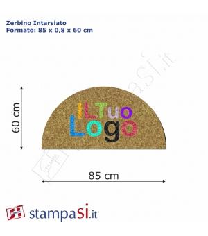 Zerbino intarsiato personalizzato mezzaluna cm 85x60