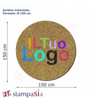 Zerbino intarsiato personalizzato rotondo Ø cm 200