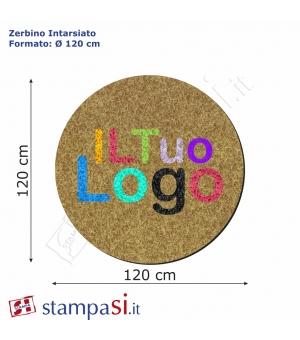 Zerbino intarsiato personalizzato rotondo Ø cm 120