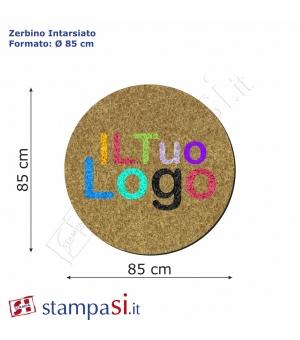 Zerbino intarsiato personalizzato rotondo Ø cm 85