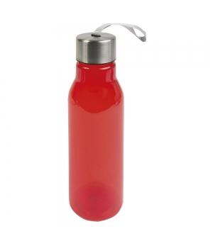 Borraccia in ABS trasparente 500 ml con maniglia in tessuto