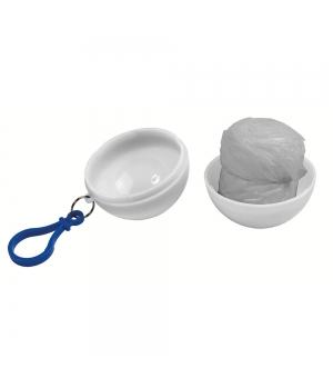 Poncho impermeabile di emergenza con cappuccio in sfera di plastica