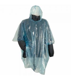 Poncho impermeabile di emergenza con cappuccio in polietilene trasparente