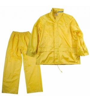 Set pantaloni e giacca con cappuccio anti-pioggia