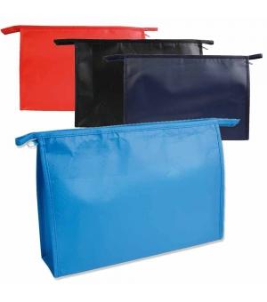Beauty case in TNT laminato con zipper