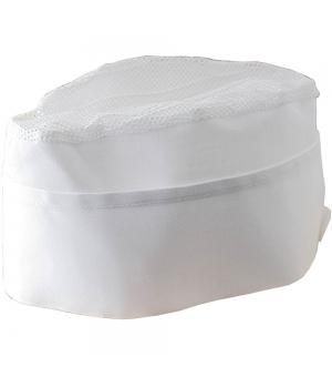 Cappello da cuoco bianco in cotone e poliestere