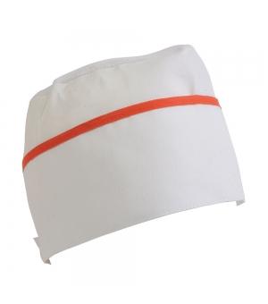 Cappello da cuoco bianco con bordo colorato