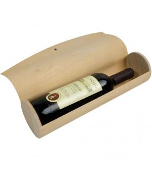 Portabottiglia cilindrico in legno di pino 9 x 34,50 cm.