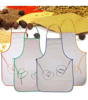 Grembiule lungo in cotone e poliestere 60x90 cm con tasca frontale