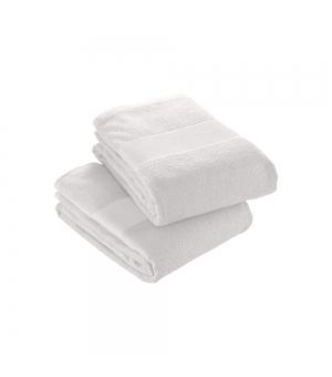 Telo in spugna di cotone bianco 350 gr. 40x60 cm con banda opaca