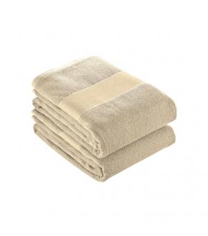 Asciugamano in spugna di cotone 450 gr. 50x100 cm con banda
