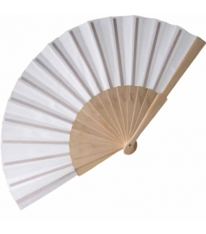 Ventaglio in cotone con manico in legno cm 23
