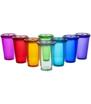 Bicchiere termico Cyclone 450 ml con cannuccia