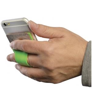 Porta carte in silicone da telefono con alloggiamento dita