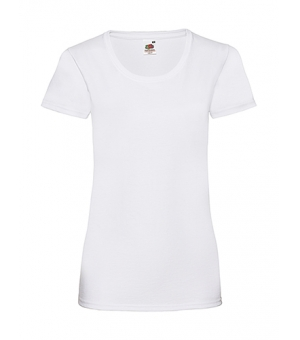 T-shirt Ladies Valueweight T Fruit Of The Loom bianca