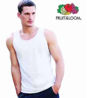 Canotta uomo Tank Top atletico Valueweight Fruit Of The Loom bianca