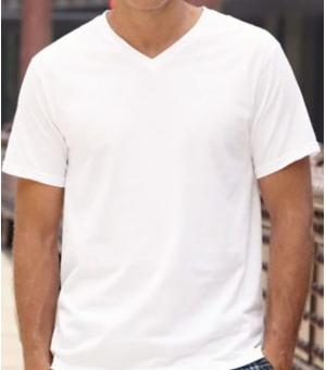 T-shirt uomo Original scollo a V Fruit Of The Loom bianca
