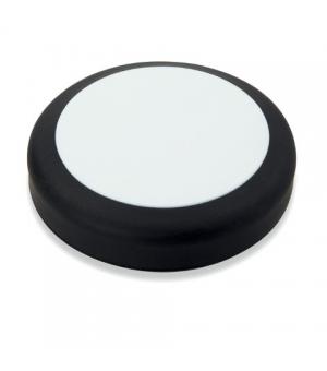 Auricolari con un astuccio rotondo di silicone/ABS Ø6,5x1,5 cm