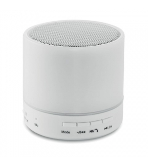 Speaker bluetooth 2.1 in ABS con luce led Ø6x6 cm