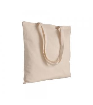 Shopper in cotone naturale 120 g/m2 manici lunghi 38 x 42 cm