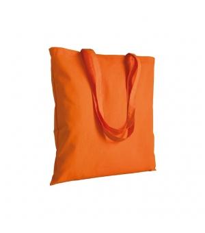 Shopper in cotone 120 g/m2 manici lunghi 38 x 42 cm