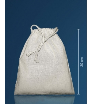 Sacca con coulisse in cotone 140 gr - 25x30 cm