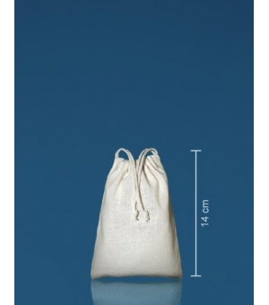 Sacca con coulisse Mini in cotone 140 gr - 10x14 cm